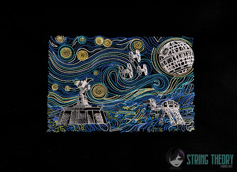 Empire Starry Wars 6x10 machine embroidery design