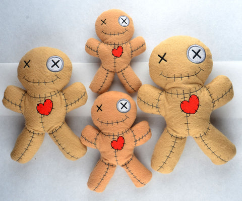 VooDoo Doll stuffie ITH 4 different sizes machine embroidery design  felties sold separately