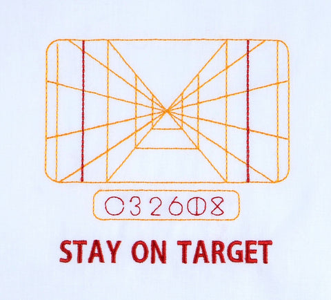 Stay On Target Star Battles 5x7 machine embroidery design