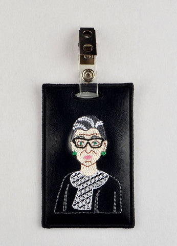 RBG ID Badge holder ITH machine embroidery design