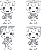 Cyber Robot feltie 4 ITH machine embroidery design 4x4