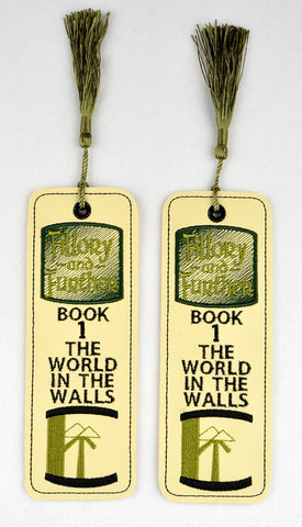 Fillory & Further book mark 2ITH 5x7 machine embroidery design