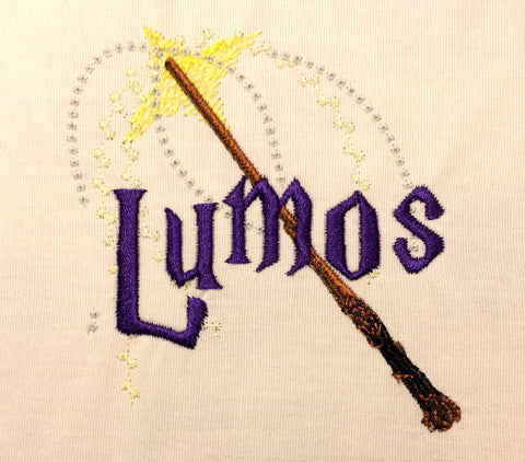 Light spell machine embroidery design 4x4