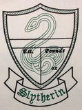 Slytherin Birth Stat Template machine embroidery design 5x7