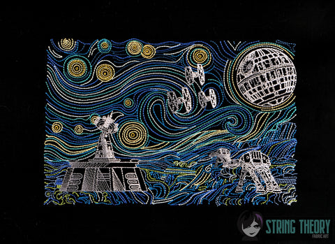 Starry Battles Evil Space Tyrants 7x12 machine embroidery design