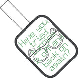 Have you tried turning it off and back on again? snap tab key fob ITH 4x4 machine embroidery design