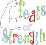 Festivus feats of strength 4x4 machine embroidery design