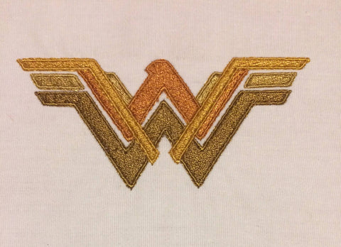 New Fabulous Lady Hero logo machine embroidery design 4x4
