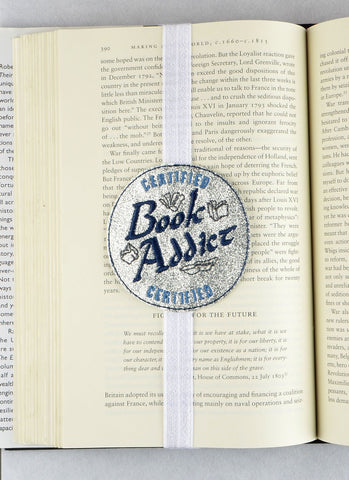 Certified Book Addict Planner band bookmark ITH machine embroidery design 4x4