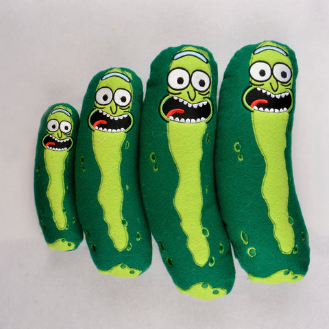 Pickle Rick Stuffie / Stuffy in 4 sizes ITH machine embroidery design