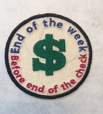 Adult Merit Badge End of Week Badge/Patch/Appliqué embroidery pattern