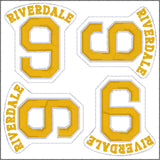 Riverdale Archie Football feite 4ITH 4x4 machine embroidery design