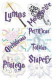 Spells Curses Charms machine embroidery pack 15 designs 5x7