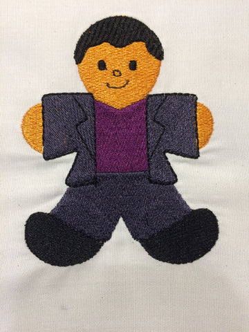 Dr. Space 9th Doctor Gingerbread Man embroidery design 4x4