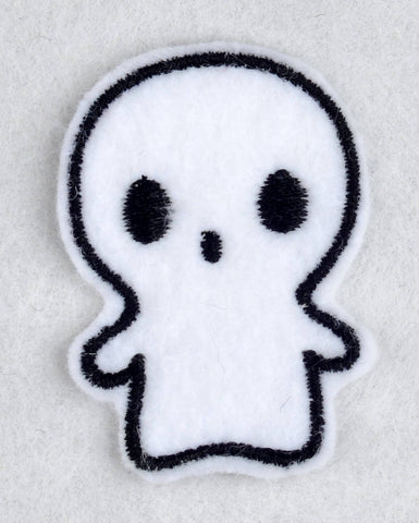 Cute ghost ITH feltie 4 to the hoop machine embroidery design 4x4