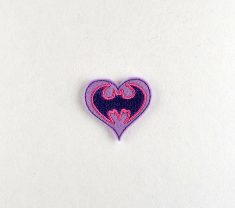 Batgirl heart feltie 4 ITH machine embroidery design 4x4