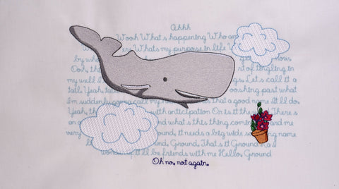 HGttG Whale & Petunia 6x10 machine embroidery design