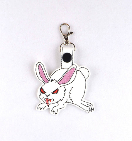Killer rabbit fob ITH 4x4 machine embroidery design