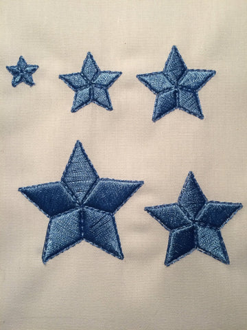 It's full of stars 3D star pack Machine Embroidery Design 4x4