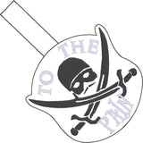 Royal Fiance Dread Pirate Roberts To The Pain snap tab key fob ITH 4x4 machine embroidery design