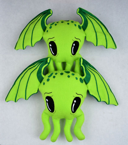 Cutie Cthulhu Stuffie SET FOUR sizes ITH machine embroidery design