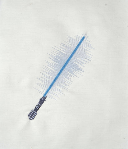 Light Saber machine embroidery design 5x7