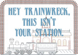 Hey trainwreck, this isn't your station faux sampler 8x12 machine embroidery design