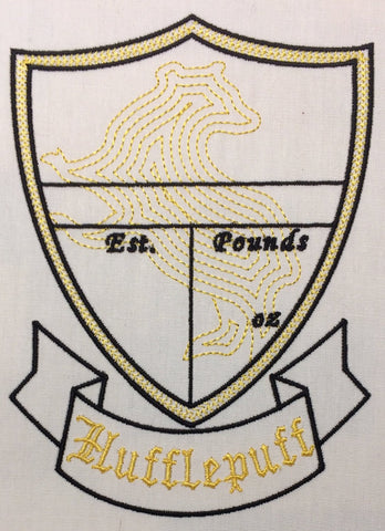 Hufflepuff Birth Stat Template machine embroidery design 5x7