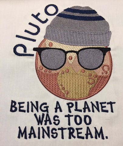 Hipster Pluto machine embroidery design 5x7