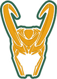 Loki helmet patch ITH 4x4 machine embroidery design