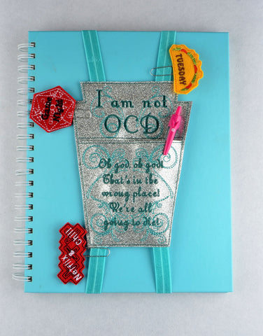 OCD Planner Pocket planner band ITH machine embroidery design 5x7