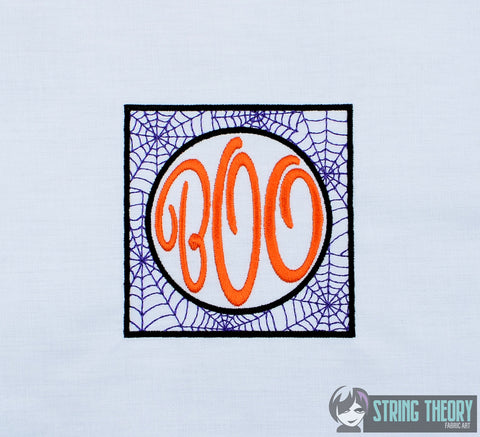 BOO 4x4 machine embroidery design