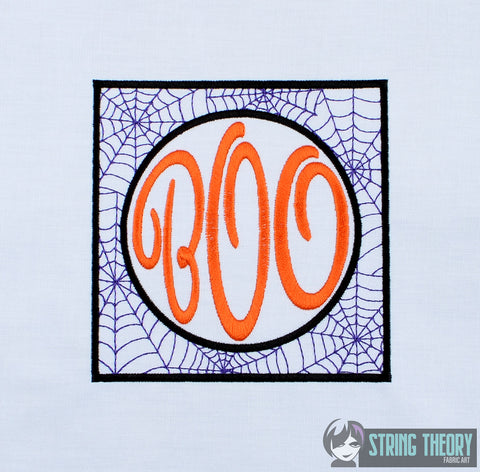 BOO 5x7 machine embroidery design