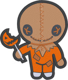 Chibi Scarecrow Boy Trick or Treat 5x7 machine embroidery design