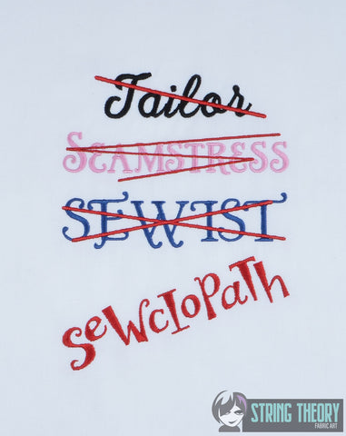 Sewciopath 5x7 machine embroidery design