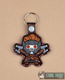 Chibi Space Liege Hero snap tab key fob ITH 4x4 machine embroidery design
