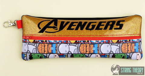 Avengers pencil bag 6x10 ITH machine embroidery design