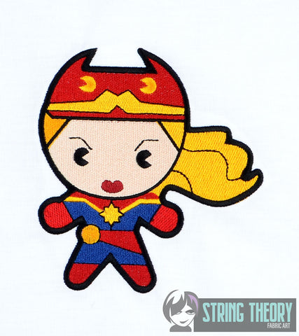Chibi LT Wonder Hero 5x7 machine embroidery design