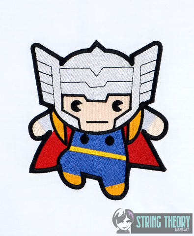 Chibi Thunder God 5x7 machine embroidery design