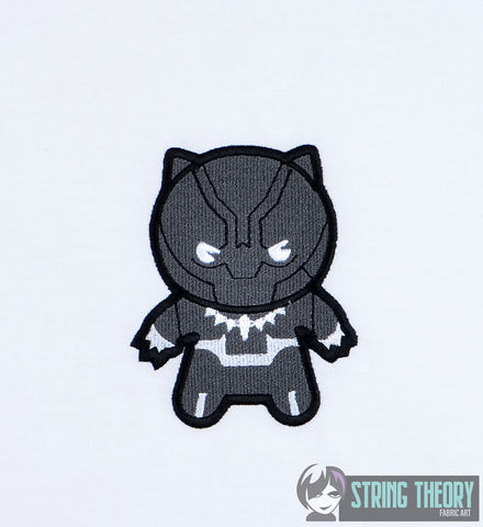 Chibi Panther 4x4 machine embroidery design