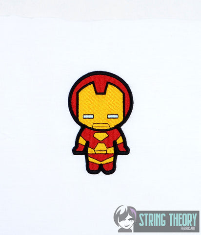 Chibi Metal Dude Hero 4x4 machine embroidery design