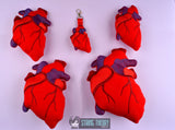 Heart stuffie FIVE SIZES ITH machine embroidery design