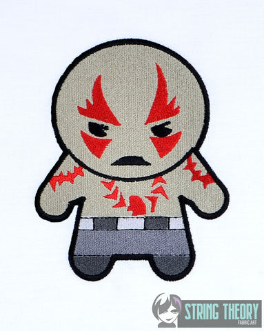 Chibi Brawny Alien 5x7 machine embroidery design
