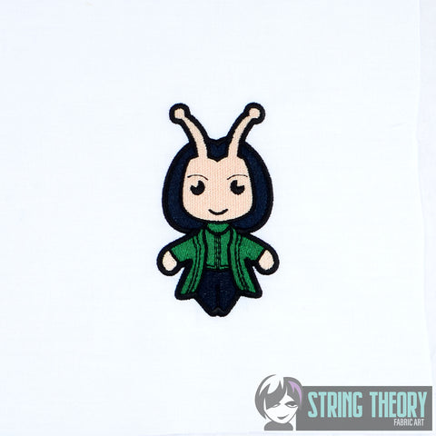 Chibi Insect Alien Hero 4x4 machine embroidery design