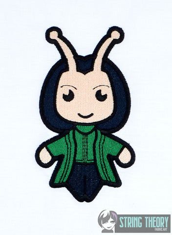 Chibi Insect Alien Hero 5x7 machine embroidery design