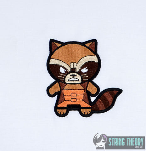 Chibi Angry Trash Panda 4x4 machine embroidery design