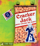 Cracker Jack 6x10 ITH zipper bag with Surprise Inside dangle machine embroidery design