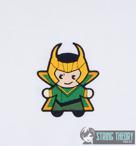 Chibi Norse Trickster 4x4 machine embroidery design