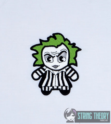 Chibi Beetlejuice 4x4 machine embroidery design