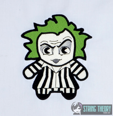 Chibi Beetlejuice 5x7 machine embroidery design